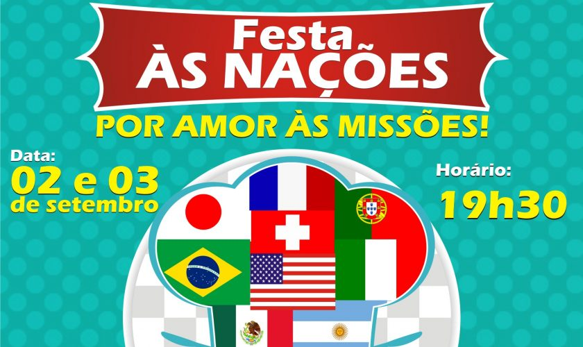 Flyer Festa às Nações